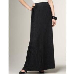 Talbots Black Pleated Skirt